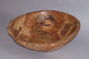 Red Elm Burl Bowl 1