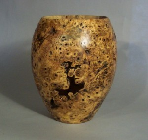 Buckeye Burl Vase 3. NFS